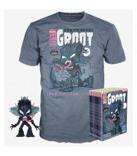 Pop! Venomized Groot (Exclusive GITD) [511] & T-Shirt
