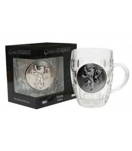 Verre à bière Logo Lannister métallique
