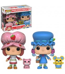 Pop! Strawberry Shortcake & Blueberry Muffin (Figurines parfumées) Edition Limitée [2-Pack]