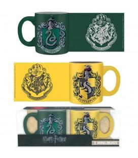 Set de 2 Minis Mugs Serpentard et Poufsouffle