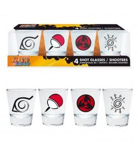 Verres Shooters Emblèmes Naruto