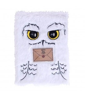Cahier Couverture Peluche Hedwige A5