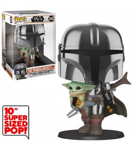 """Pop! The Mandalorian with The Child Super Sized 10"""" [380]"""