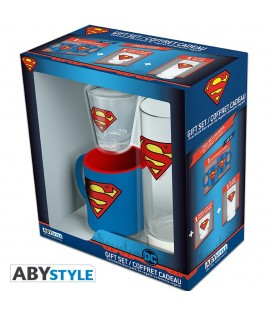 Coffret Superman Mug Expresso + Verre + Shooter