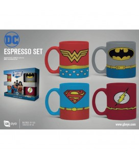 Set de 4 Mugs Espresso Heroes Uniforms
