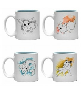 Set de 4 Mugs Espresso Eevee Evolutions