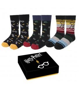 Pack 3 paires de Chaussettes Harry Potter Crests