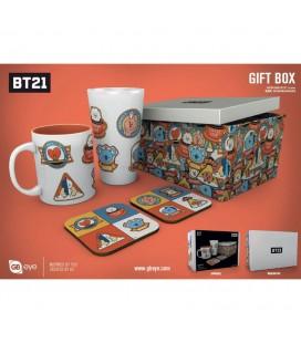 Coffret BT21 Icons Mug + verre + Sous Verre