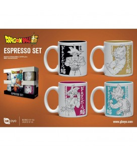 Set de 4 Mugs Espresso Super Goku