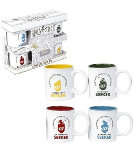 Set de 4 Mugs Espresso Quidditch