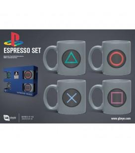 Set de 4 Mugs Espresso Buttons