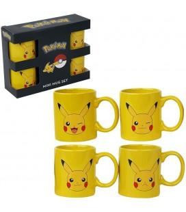 Set de 4 Mugs Espresso Pikachu
