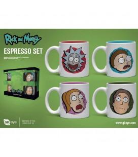 Set de 4 Mugs Espresso Characters
