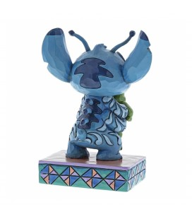 Statuette Stitch with Frog - Disney Traditions