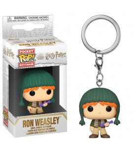 Pocket Pop! Keychain - Ron Weasley Holiday