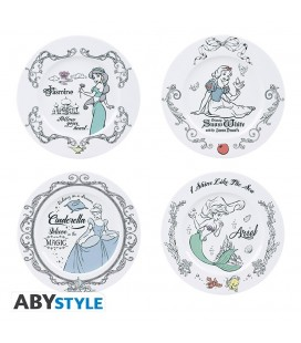 Set de 4 assiettes en Porcelaine Disney Princesses