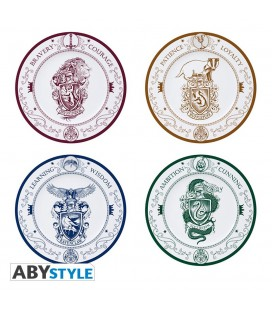 Set de 4 assiettes en Porcelaine Hogwarts Houses