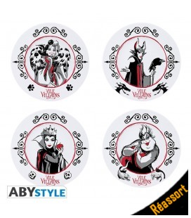 Set de 4 assiettes en Porcelaine Disney Villains