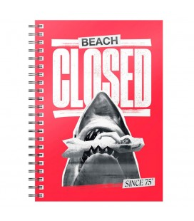Cahier à Spirale Beach Closed A5