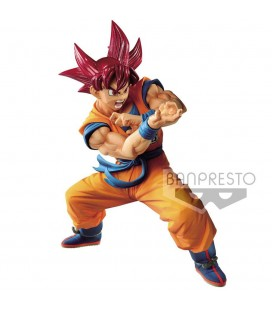 Blood of Saiyans Super Saiyan God Son Goku Metallic Hair Color 17 cm