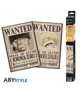 Set de 2 Posters Wanted Zoro & Sanji 52*35