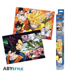 Set de 2 Posters DBZ Saiyans Artworks 52*38