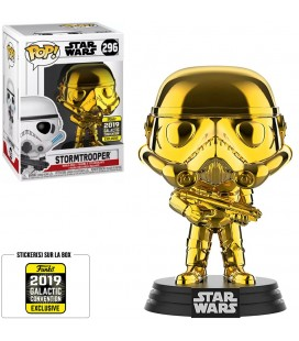 Pop! Stormtrooper Chrome Gold 2019 Galactic Convention [296]