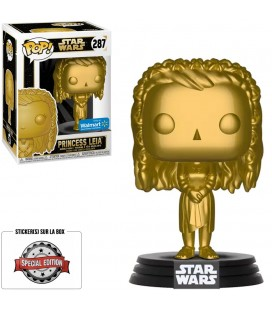 Pop! Princess Leia Metallic Gold Edition Limitée [287]