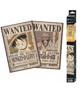 Set de 2 Posters Wanted Luffy & Ace 52*35