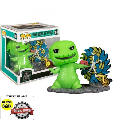 Pop! Deluxe Oogie Boogie with Wheel (GITD) Edition Limitée [811]