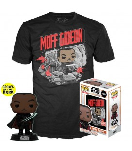 Pop! Moff Gideon (Exclusive GITD) [380] & T-Shirt