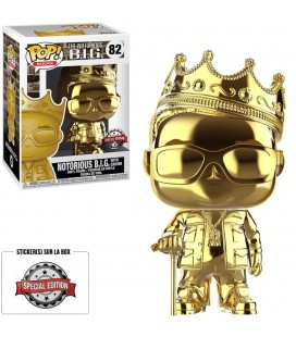 Pop! Notorious B.I.G (with Crown) Chrome Gold Edition Limitée [82]