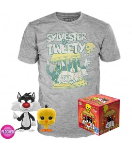 Pop! Sylvester & Tweety (Exclusive Flocked) [309] & T-Shirt