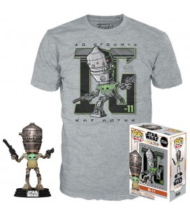 Pop! IG-11 (Exclusive with the Child) [427] & T-Shirt
