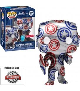 Pop! Avengers Artist Series Captain America (Protection Pop! Stacks incluse) [32]