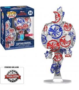 Pop! Artist Series Captain Marvel (Protection Pop! Stacks incluse) [34]