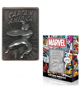 Lingot de Collection Numéroté Captain America (9995 Ex)