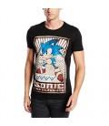Tshirt Sonic Vintage Print Noir (S)