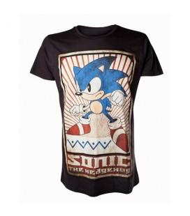 Tshirt Sonic Vintage Print Noir (L)
