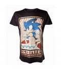 Tshirt Sonic Vintage Print Noir (XL)