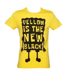 Tshirt Yellow is the New Black - Bob l'éponge (S)