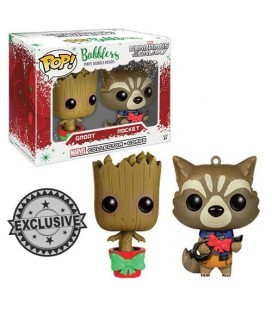 Pop! Christmas Groot and Rocket Mini-Wobbler LE