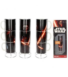 Pack de 3 Mugs Kylo Ren Lightsaber (empilables)