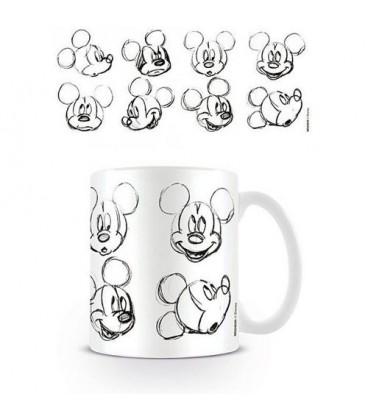 Mug Mickey Mouse Sketch Face
