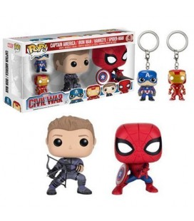 Pop! Captain America Iron Man Hawkeye Spider-Man [4-Pack]