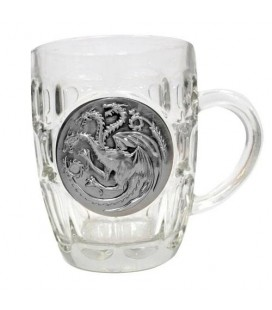 Verre à bière Logo métallique Targaryen