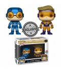Pop! Blue Beetle & Booster Gold Metallic LE [2-Pack]