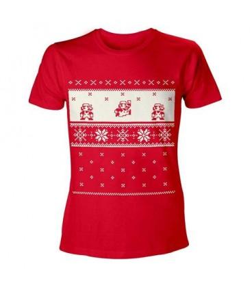 Tshirt Mario Retro Christmas