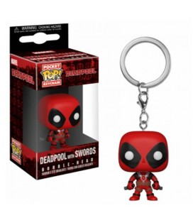 Pocket Pop! Keychain - Deadpool with Swords