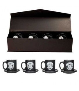 Coffret Collector de 4 Expresso Mugs Hogwarts Emblems